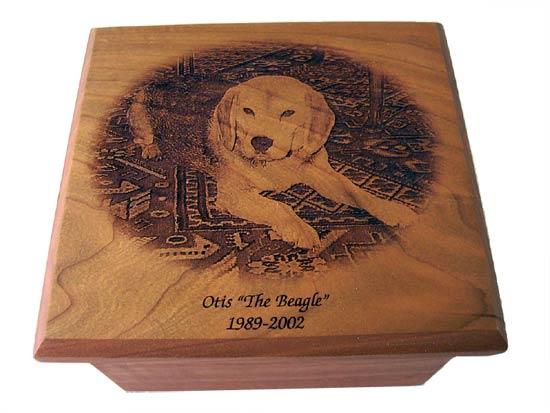 Laser Engraved Dog Urn