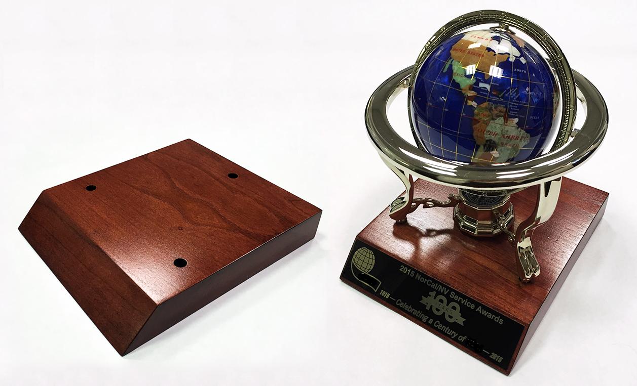 Custom Trophy Base Sample 4 Hal Woodworking
