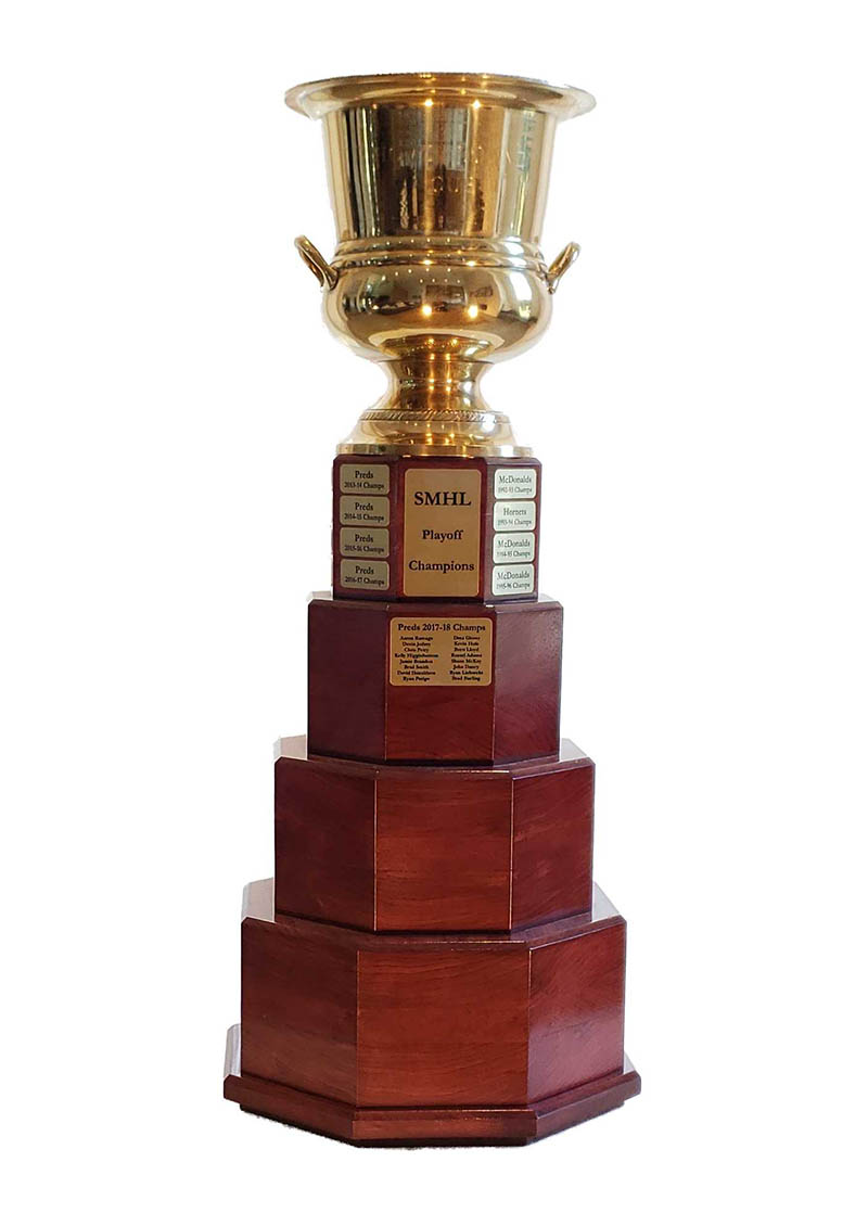 Custom Perpetual Trophy Bases - HAL Woodworking